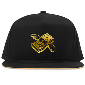 Flying money emoji snapback