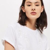 Embroidered T-Shirt | Topshop