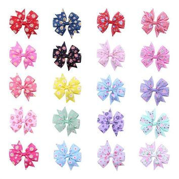 20pcs Bow Barrettes Hairpin Bowknot Hair Clips Headwear for Baby Kids Children