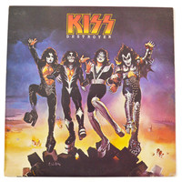 Vintage 70s KISS Destroyer Album Record Vinyl LP