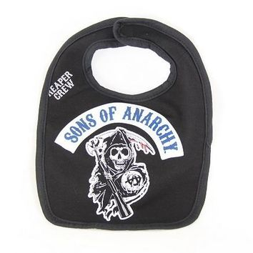 The Sons of Anarchy Reaper Crew Black Infant Baby Bib - Sons of Anarchy - | TV Store Online