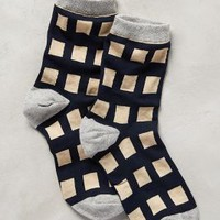 Gridwork Socks by Hansel from Basel Navy One Size Socks