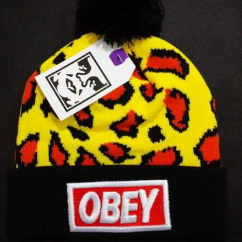 Obey Women Men Embroidery Beanies Knit Wool Hat Cap-14