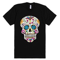 Day of the Dead Sugar Skull T-Shirt-Unisex Black T-Shirt