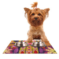 "Jane Smith ""Indian Jewelry"" Purple Yellow Dog Place Mat"