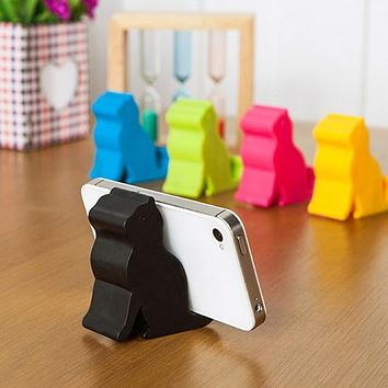 Cute Mini Cat Shape Phone Tablet Mounts Stand Holder Tool for iPhone