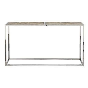 Parquet Console Table Smoke Gray Elm