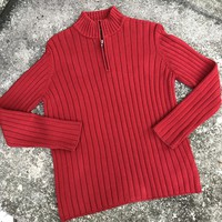 LAUREN RALPH LAUREN 100% Cotton red Sweater