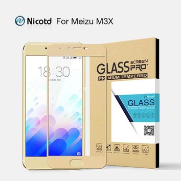 Nicotd For Meizu M3X Protective film Full cover Screen Tempered Glass For Meizu Meilan X 5.5 inch Screen Protector Glass film