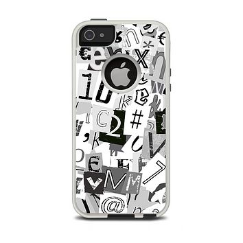 The Newspaper Letter Collage Apple iPhone 5-5s Otterbox Commuter Case Skin Set