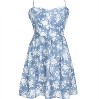 Cross Back Floral Dress