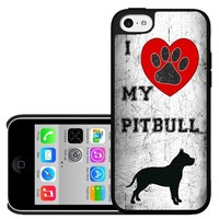 I Love My Pitbull iPhone 5c Hard Case