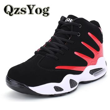 QzsYog High Quality Men Women Basketball Shoes Air Cushion Sneakers Sports Athletic Trainers Lovers High Top Basketbol Ayakkabi