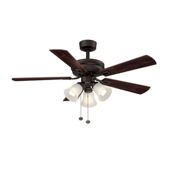 Hampton Bay Sinclair 44 in. Oil Rubbed Bronze Ceiling Fan-AL958-ORB at The Home Depot