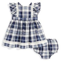 Ralph Lauren Plaid Dress (Baby Girls) | Nordstrom