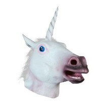 Youareking® Halloween Creepy Adult Unicorn head latex Rubber Mask - Fancy Dress
