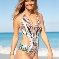 Jessica Simpson Side-Cutout One-Piece Swimsuit | macys.com