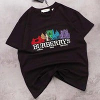 Burberry New fashion embroidery letter pattern top t-shirt Black