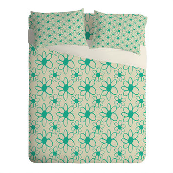 Allyson Johnson Mod Flowers Sheet Set Lightweight