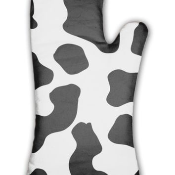 Oven Mitt, Cow Pattern