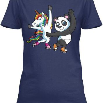 Figure Skating Unicorn And Panda Bear