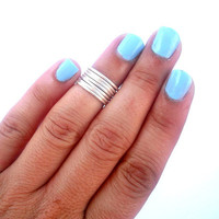 Must have: Set of 7  Above the Knuckle Rings  - Staking Rings - Stackable Rings -  Above Knuckle Ring -  by Tiny Box