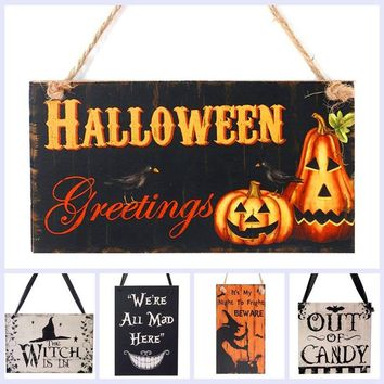 Halloween Party Decoration Supplies The Witch Is In Rustic Wooden Plaque Wall Sign Haing Board Halloween Party Favor Gifts