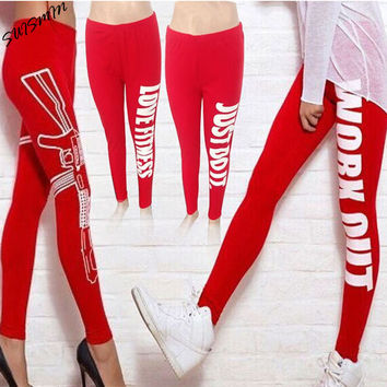Workout Leggings for Women Workout Clothes Fitness 95% Cotton Printed Female Work Out Pants