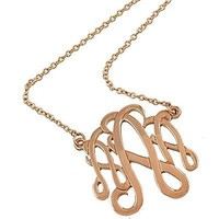 *[N/L]-Monogram Necklace ~A~ Rosegold Finish