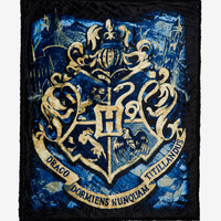 Harry Potter Hogwarts Crest Throw Blanket