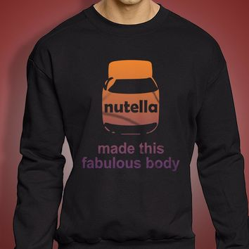 Body Made By Nutella Logo Men'S Sweatshirt