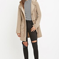 Hooded Longline Cotton Jacket