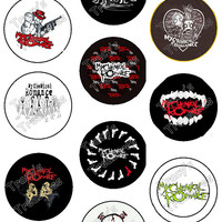 "Set of 10 High Quality 1.25"" My Chemical Romance Pinback Buttons / Pins Free Shipping"