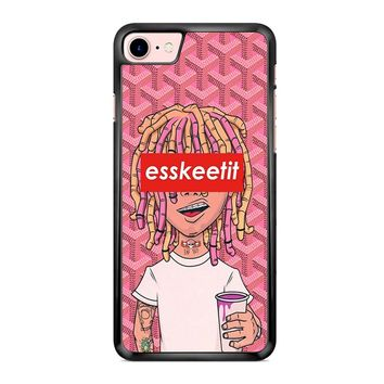 Lil Pump Esskeetit Logo Box Goyard Pink iPhone 7 Case