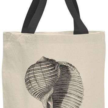 Austin Ink Apparel Spiral Seashell Contrast Cotton Canvas Tote Bag