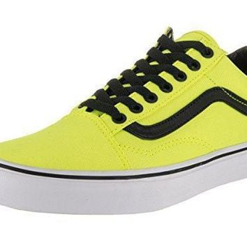 Vans Unisex Old Skool (brite) Neon Yellow/black Skate Shoe 10.5 Men Us / 12 Women Us