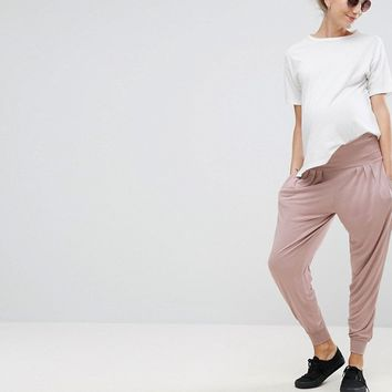 ASOS Maternity Harem Pants In Jersey at asos.com