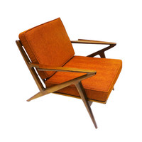 Palm Springs Lounge Chair in Electric Orange