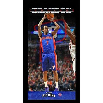 MDIGMS9 Brandon Jennings Detroit Pistons Player Profile Wall Art 9.5x19 Framed Photo