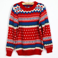 Ladies Blends Red Sweater One Size YS1004r from efoxcity