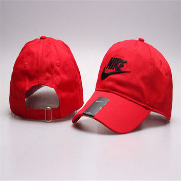 Red Nike cotton cap Hat