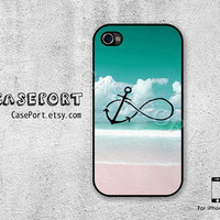 Infinity Anchor iPhone 4 Case, iPhone 4s Case, iPhone 4 Cover, iPhone 4s Cover, iPhone Hard Case