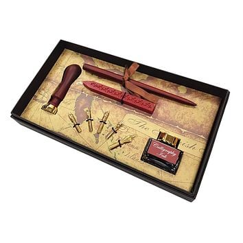 Calligraphy Wooden Pen Set - Create your personal style writing, greeting cards and invitations.