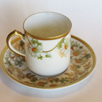 Vintage Turin Bavaria Teacup and Saucer