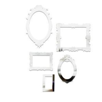 Umbra Frama Mirrored Wall Decor Appliques, Set of 5