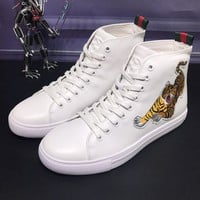 Gucci Man or Woman Fashion Embroidery Strappy Casual Shoes
