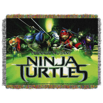 TMNT Movie Poster Triple Woven Jacquard Throw (48x60)