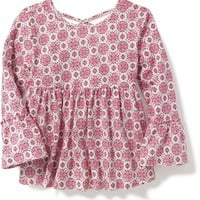 Cross-Back Bell-Sleeve Tunic for Toddler Girls | Old Navy