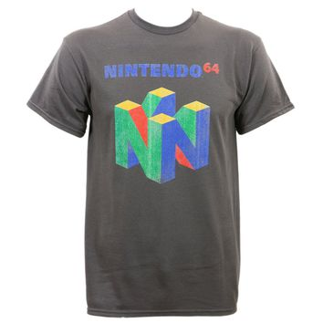 Nintendo 64 Black Copier Retro Mens T-Shirt