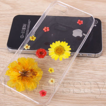 iPhone 6 case iPhone 6 plus Pressed Flower, iPhone 5/5s case, iPhone 4/4s case,  5c case Galaxy S4 S5 Note 2 note 3 Real Flower case NO:F22